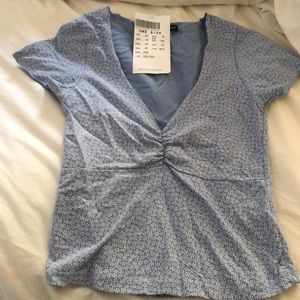 Brandy Melville Blue Floral Top NWT